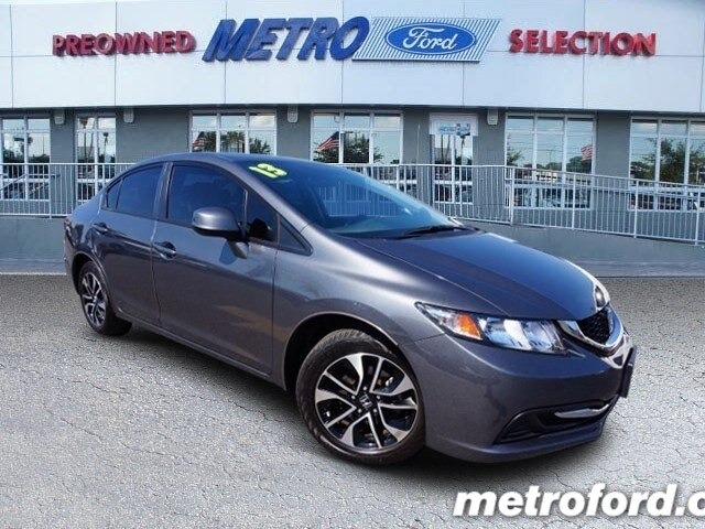2013 Honda Civic EX Polished Metal Metallic Black wCloth Seat Trim ONE OWNER STILL UNDER FAC