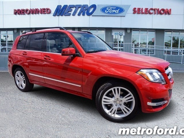 2015 Mercedes GLK350 Mars Red Black wLeather Seating CLEAN CARFAXNO ACCIDENT HISTORY ONE OWN