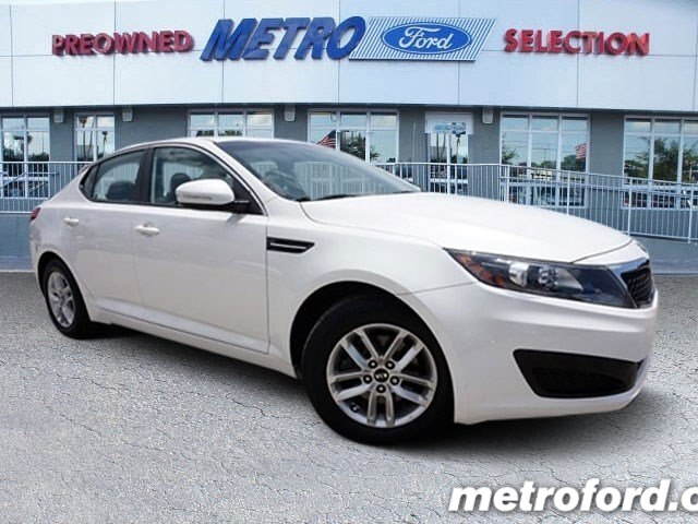 2011 Kia Optima Snow White Pearl Beige wCloth Seat Trim CLEAN CARFAXNO ACCIDENT HISTORY ONE