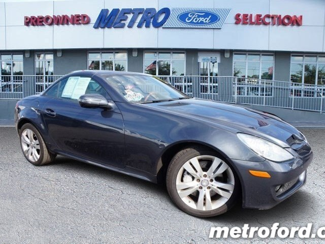 2010 Mercedes SLK350 Steel Gray Metallic Black wLeather Upholstery CLEAN CARFAXNO ACCIDENT HIS